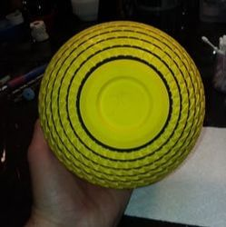 Adding black accents to the Yellow Urn
