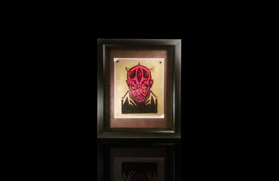 Dark Maul Start Wars Ceramic Tile Wall Art
